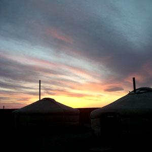 Sunset Gobi Desert