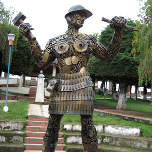 Miner Statue Colombia
